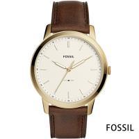 FOSSIL 睿智思維薄型皮帶男錶-米白x44mm  FS5397