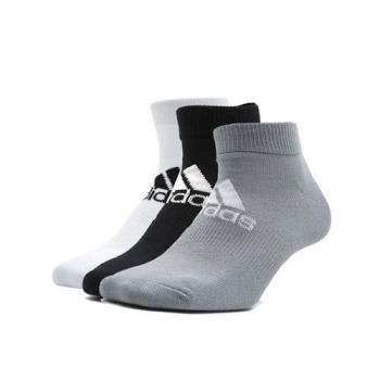 ADIDAS 男女運動短襪-三雙入-慢跑 路跑 襪子 愛迪達