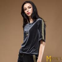 MONS歐系時尚絲絨造型上衣