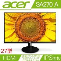 ACER宏碁 SA270 Abi 27型IPS面板FreeSync濾藍光不閃屏液晶螢幕