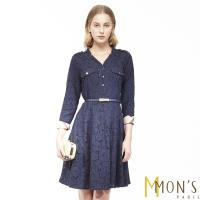 MONS歐系精品風格紋氣質蕾絲洋裝
