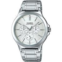 CASIO 都會時尚三眼全月曆男錶-白(MTP-V300D-7A)