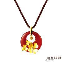 Jcode真愛密碼 花漾時光黃金/瑪瑙/水晶墜子 送項鍊