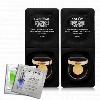 LANCOME蘭蔻 零粉感超持久氣墊粉餅1.8gx2(贈試用包x2)