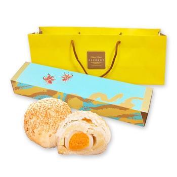 預購-樂活e棧-綠豆麻糬蛋黃禮盒(5入/盒,共1盒)-蛋奶素