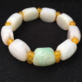 天然A貨 緬甸玉 翡翠 精雕長壽招福龜殼手串 品澐珠寶