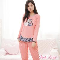 PINK LADY 甜蜜情侶貓 棉柔成套睡衣 862 (蜜粉)