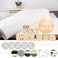 [AndyBedding]100%天然乳膠防蟎床墊-雙人加大6尺