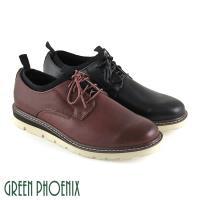 GREEN PHOENIX 簡約織帶縫線襪套式真皮平底休閒皮鞋(男鞋)T12-19829