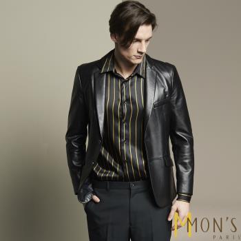 MONS頂級紳士質感Nappa小羊皮西裝外套