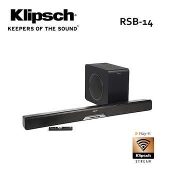 古力奇 Klipsch 藍牙微型劇院 RSB-14 /RSB14 SOUNDBAR+超低音喇叭