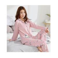 [MFN蜜芬儂]逗趣小貓針織睡衣+法蘭絨睡袍2套組-型(網)