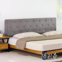 【優利亞-拉姆斯工業風】雙人5尺床組(床頭片+床底)