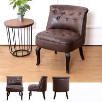 Boden-班尼頓美式復古風仿舊皮沙發單人座椅