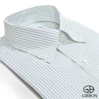 GIBBON 精選條紋修身長袖襯衫‧藍黃條