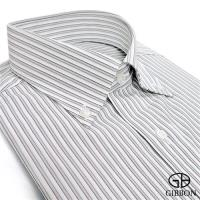 GIBBON 精選條紋修身長袖襯衫‧灰色
