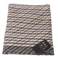 【DAKS】經典格紋抓皺披巾圍巾(駝色)