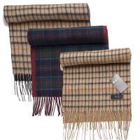DAKS經典雙面格紋羊毛圍巾(3色)