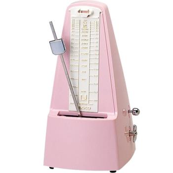日本 NIKKO 鋼琴節拍器 傳統發條機械式節拍器 粉紅色