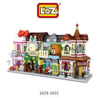 LOZ mini 鑽石積木-1629-1632 街景系列 彩妝店  小熊商店  日式餐館  購物中心