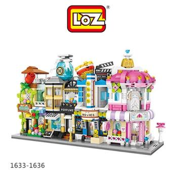 LOZ mini 鑽石積木-1633-1636 街景系列 鮮花店  香水店  電影院  婚紗店