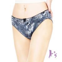 【Ks凱恩絲】專利有氧蠶絲黑豹紋柔棉三角內褲
