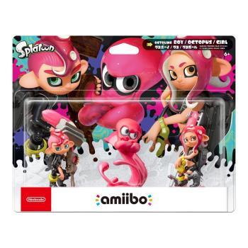 任天堂 Nintendo amiibo公仔 粉色章魚女孩/粉色章魚/粉色章魚男孩(漆彈大作戰系列)