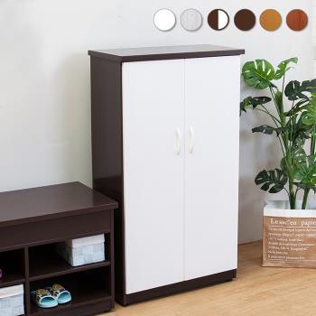 Bernice-防潮防蛀 防水塑鋼2.2尺上掀收納二門鞋櫃(胡白)