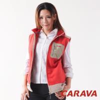 CARAVA厚刷毛背心(紅)