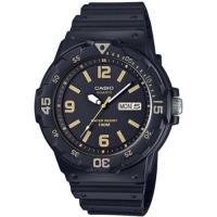 CASIO 魅力潛水風格運動腕錶-黑/金刻(MRW-200H-1B3)