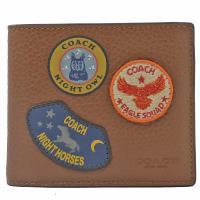 COACH 30775 限量 軍徽章拼布中短夾.黑