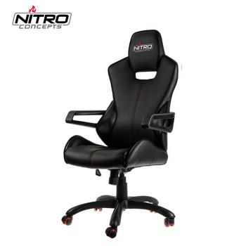 Nitro Concepts E200 RACE辦公電腦椅-黑/碳纖紅