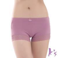 【Ks凱恩絲】專利有氧蠶絲褲底零束縛平口內褲(芋頭紫)