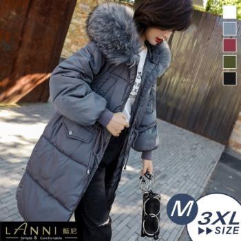 LANNI 藍尼-厚款長版縮腰羽絨棉外套 M-3XL (多色可選)