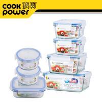 鍋寶 耐熱玻璃保鮮盒收納7件組 EO-BVC835Z24152Z2116
