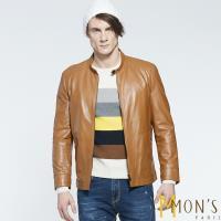 MONS紳士立領休閒造型小羊皮外套