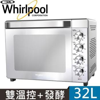 Whirlpool惠而浦 32L不鏽鋼機械式烤箱WTOM321S