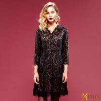 MONS法式浪漫蕾絲設計修身洋裝
