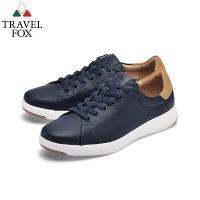 TRAVEL FOX(男) 輕雲系列 超軟牛皮輕量舒適運動鞋 - 風動藍