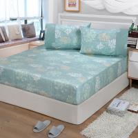 FITNESS 精梳棉特大床包+枕套三件組-海蒂(綠)