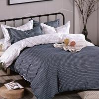 (Indian)柔絲絨加大四件式印花兩用被床包組- 簡約