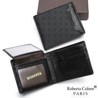 Roberta Colum - 尊爵頭層牛皮暗袋7卡3照可拆式上下翻短夾