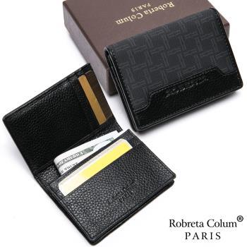 Roberta Colum - 尊爵格調頭層牛皮上下翻名片夾