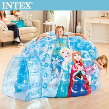 INTEX FROZEN冰雪奇緣-ELSA遊戲球城堡(48670)+送110V幫浦(66639)