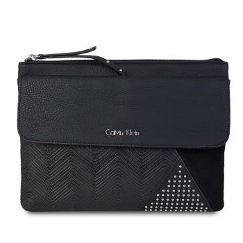 CALVIN KLEIN 韓系風格個性大手拿包-黑色