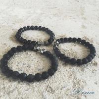 DINA JEWELRY 蒂娜珠寶   時尚酷黑啞鈴 造型串珠手鍊 (TI5336)