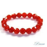 DINA JEWELRY 蒂娜珠寶  開運刻面紅瑪瑙  造型串珠手鍊 (HS7286)