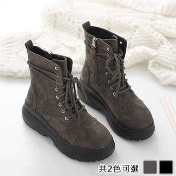 Alice (預購) 賣瘋了韓風質感厚底綁帶馬丁靴