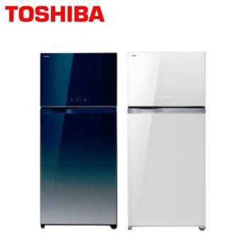 TOSHIBA東芝 608公升玻璃鏡面變頻雙門冰箱GR-WG66TDZ