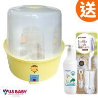 優生 蒸汽式奶瓶消毒鍋(娃娃)送史奴比奶瓶4大2小